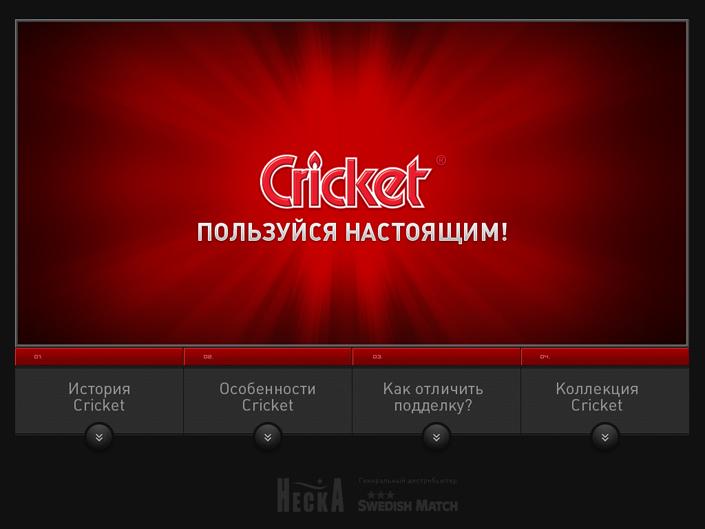 Промо-сайт Cricket